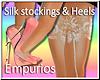 (Em)Silk Stock'g w/heels