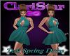 C* Teal Spring Dress