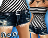 *NoA*Jeans + Striped Top