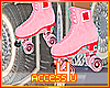! Red Roller Skates