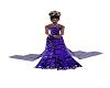 purple n black wed dress
