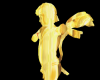 Gold Cupid Statue