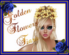 Golden Flowers Tiara