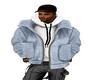 Sky Blue Hoodie Jacket
