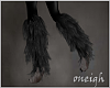 Grey Shimmer Leg Fur (L)
