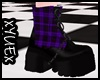*Y* Purpel Punk Boots