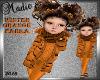 Winter Orange Parka Kids