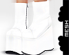 ! White Rave Platforms