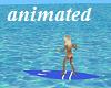 Blue Surfboard animated