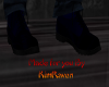 nlack and navy boots