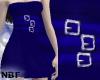 Blue buckle dress