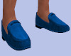 [B] Menz Blue Loafers