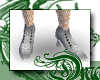 d White Fishnet Boots