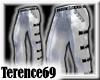 69 Goth Pants -Silver