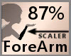 Scale ForeArm 87% F A