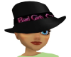 Black Badgirl Fadora Hat