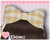 Yellow Gingham Hairbow