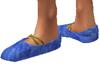 Blue Medieval Shoes
