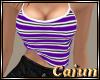 Striped Top Purple/Black