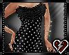 S Blk top ruffle dress