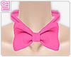 [Y] Pink bow neck tie