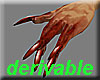 Bloodied zombie claws