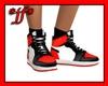 *jf* Red n Blk Sneakers