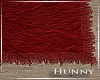H. Fur Rug Red