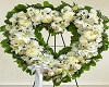 Funeral Heart Flower