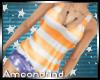AM:: Stripe Tank Orange