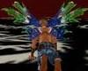 blue green wings