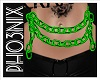 !PX GREEN BELLY CHAINS