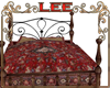 country iron bed