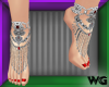Jeweled Anklets Ruby Red