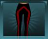 Red Striped Leggings-Sm.