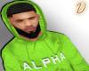 Green Alpha Hoodie