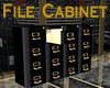 Black/Gold File Cabinet