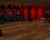 red and black ball room