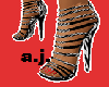 leopard high heels *AJ*