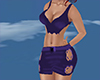 dark blue skirt n top