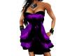purple/black dress