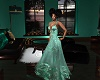 Whitney Teal Gown