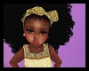 Kids Gold Fall Afro+ bow