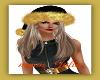 Blk &Gold santa Hat