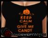 W| Halloween Tank Black