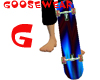 Blue Skate Board