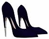 Navy Blue & Silver Heels