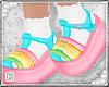 Rainbow Jellies + Socks