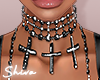 $ Princess Black Choker