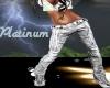 Platinum Leather Pants